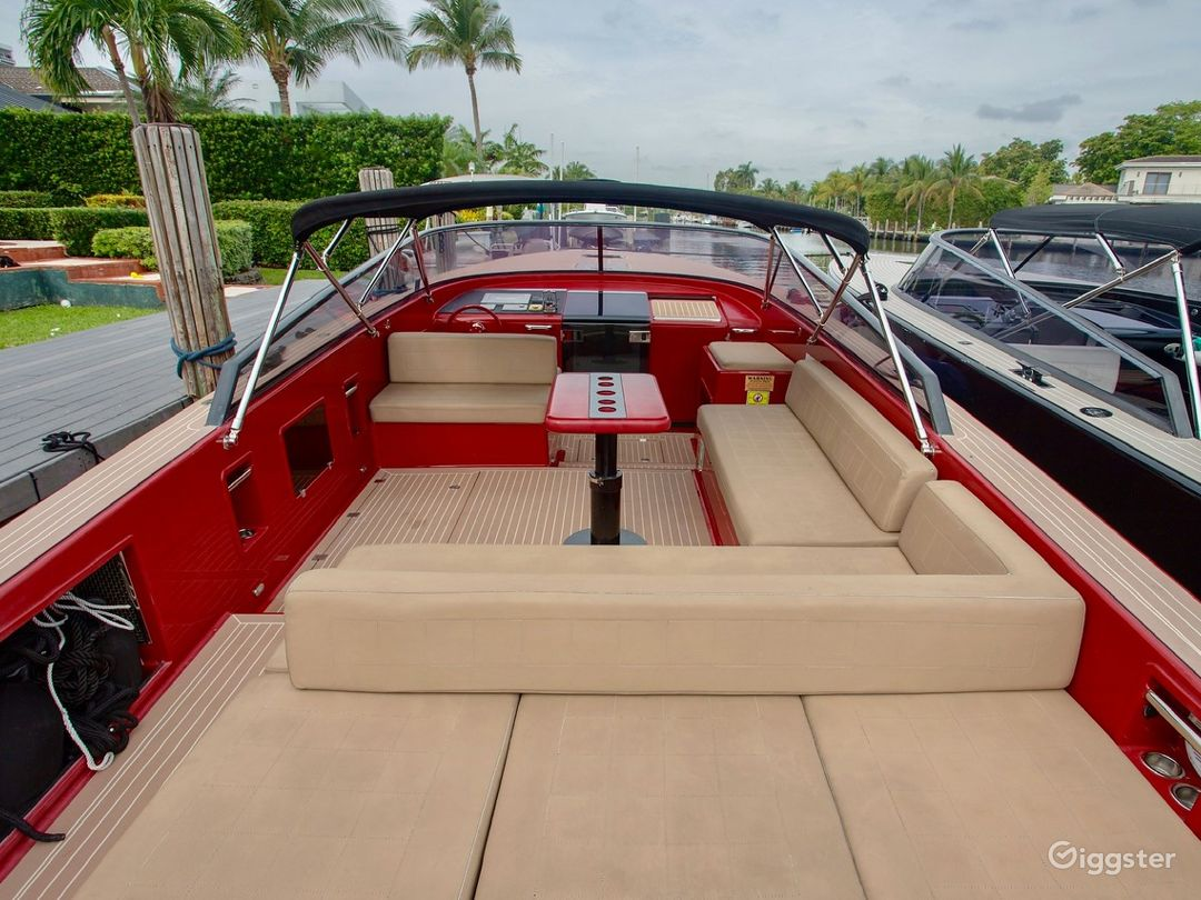 Sophisticated 40FT VanDutch Red Party Yacht Space Events Photo 1