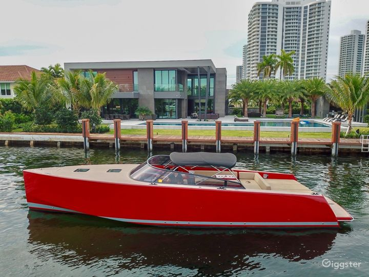 Sophisticated 40FT VanDutch Red Party Yacht Space Events Photo 5