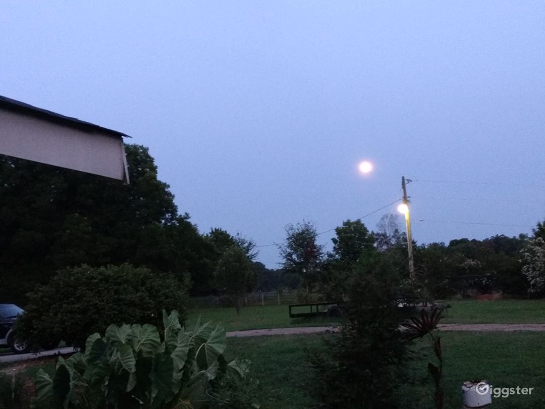 Night view toward south east pasture