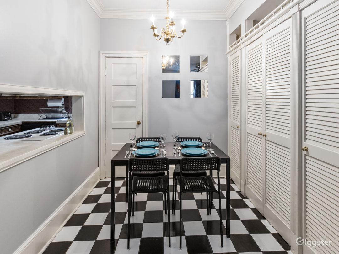 Dining Room/ Breakfast Nook in downstairs unit