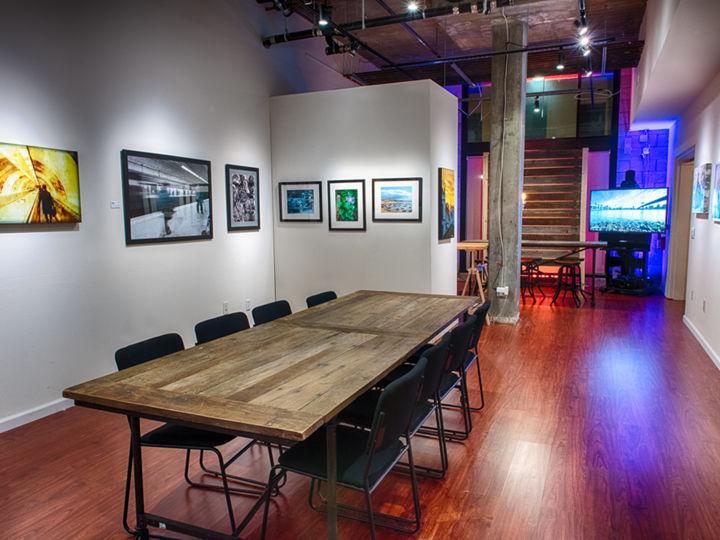 Art Gallery with Open Floor Plan
