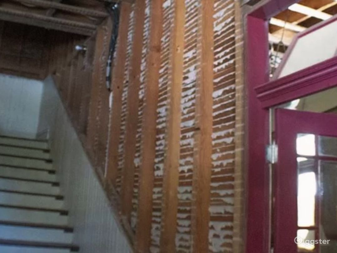Historic hotel staircase perfect for horror movies or under construction filming.