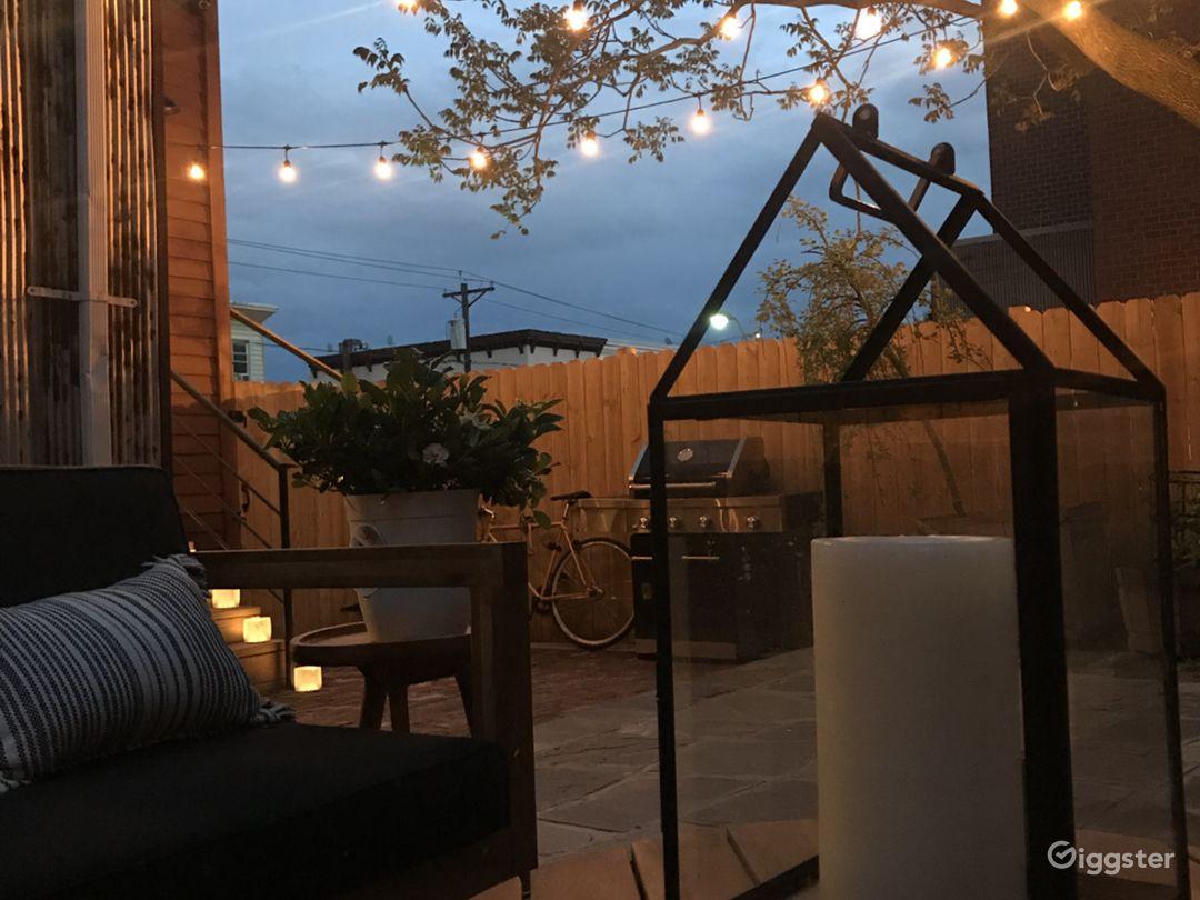 Backyard evening