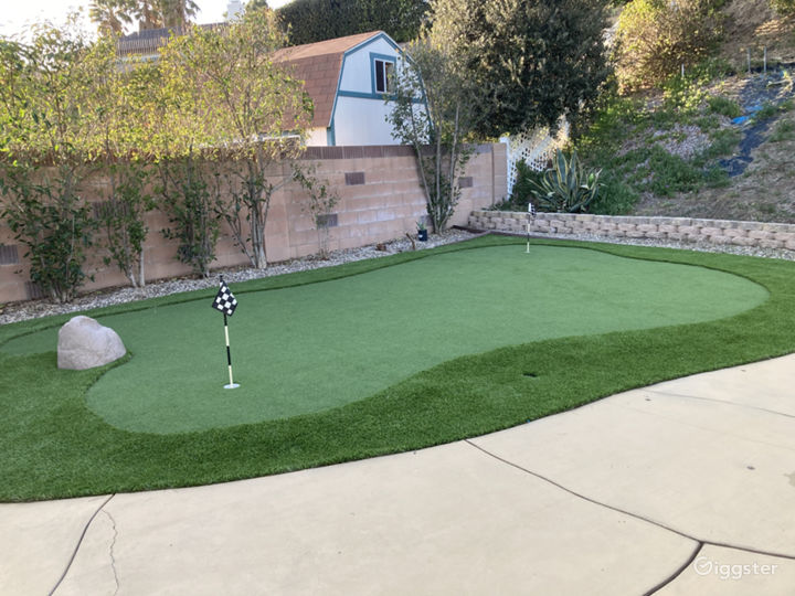 Two-Hole Putting Green