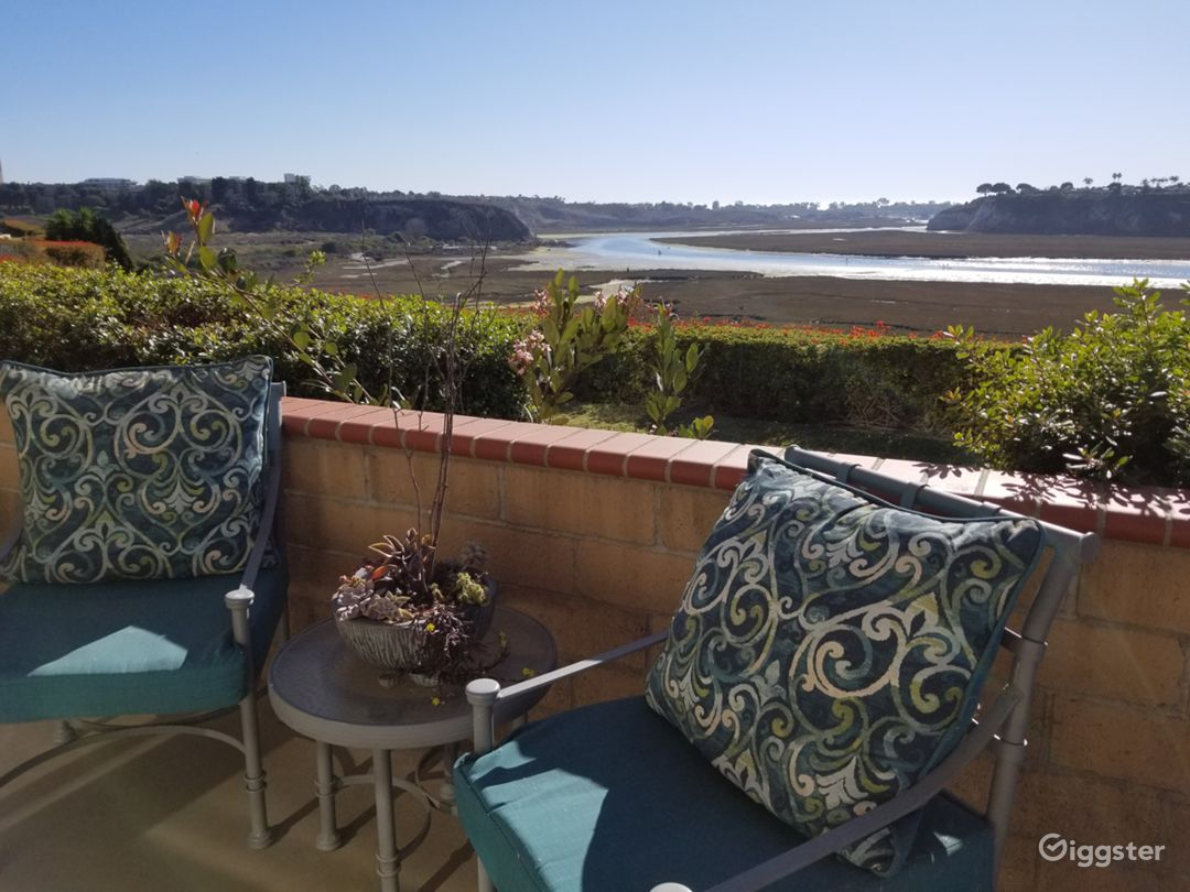 Backyard Patio View of Newport Back Bay