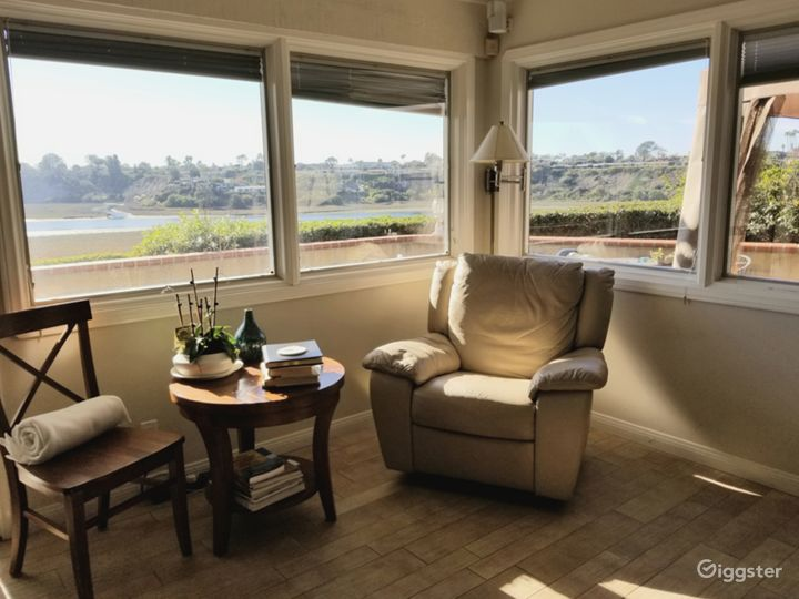 Living Room Sitting Area with views o the Newport Back Bay