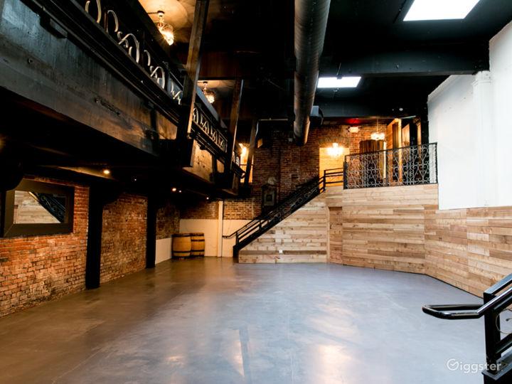 Beautiful Event Ballroom with Mezzanine Floor