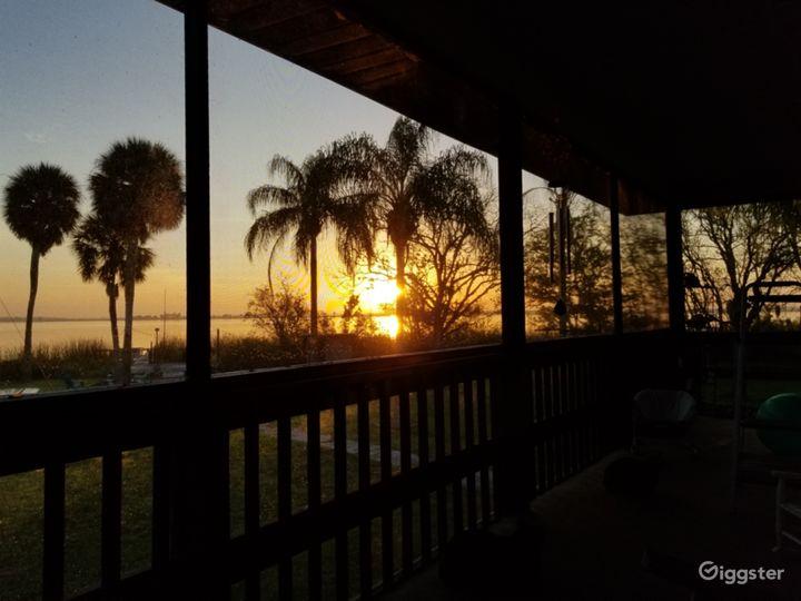 Sunrise on porch.