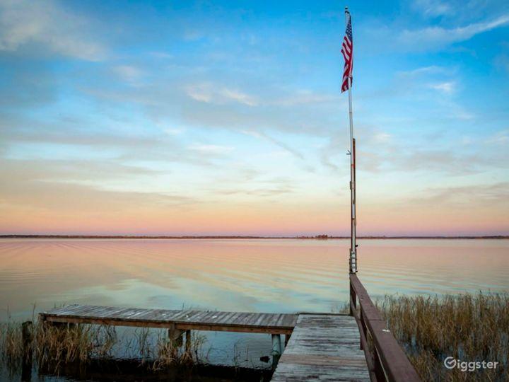 Dock faces east.  Get sunrise over lake.