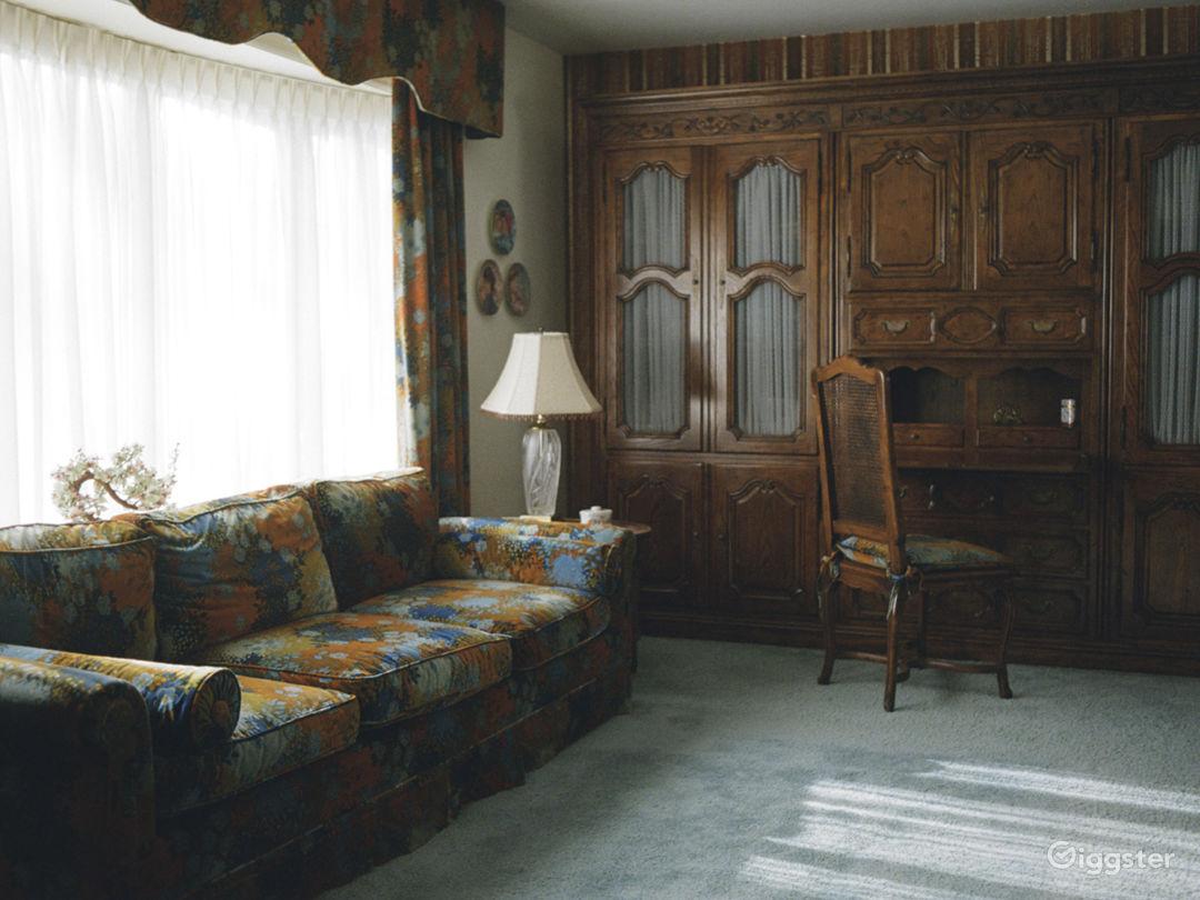 Unrenovated 70s Home- Wallpaper, Carpet & Paneling Photo 1