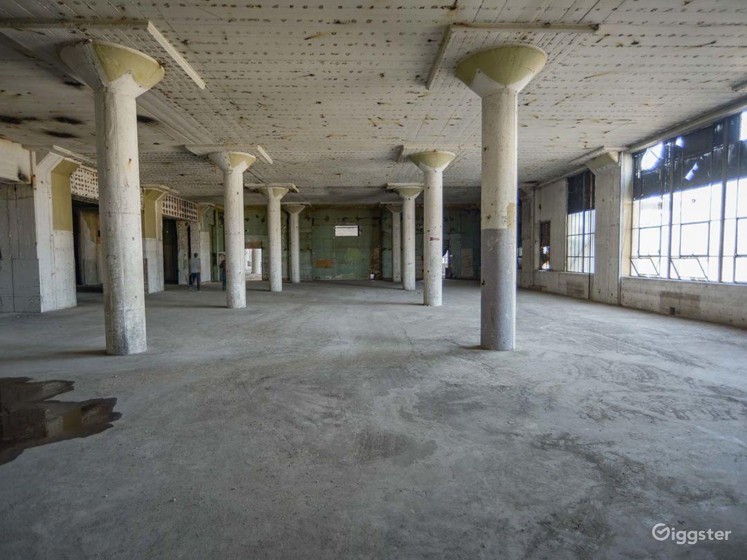 Humongous Dilapidated Warehouse Photo 5