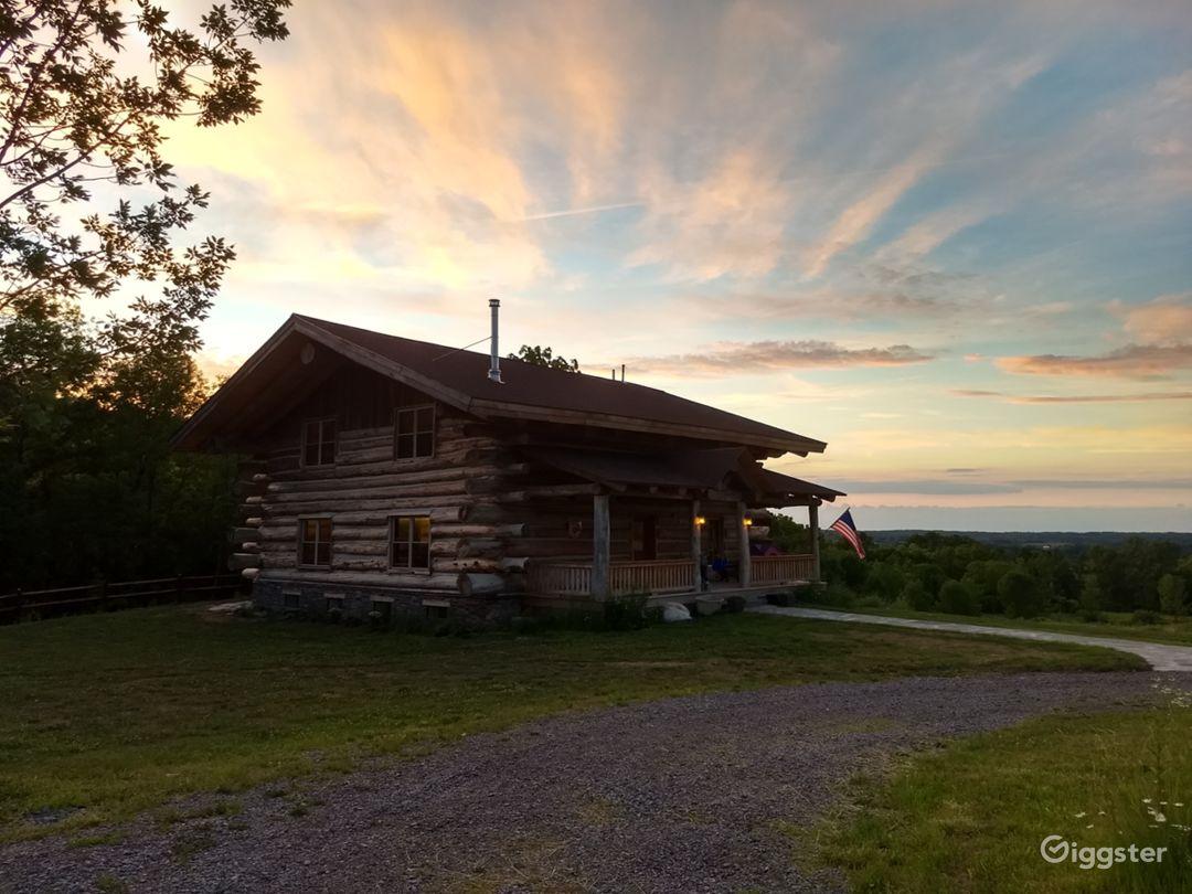 Hand-crafted Log Homestead on beautiful acreage Photo 1