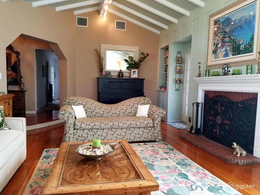 The whole house has original hardwood floors.