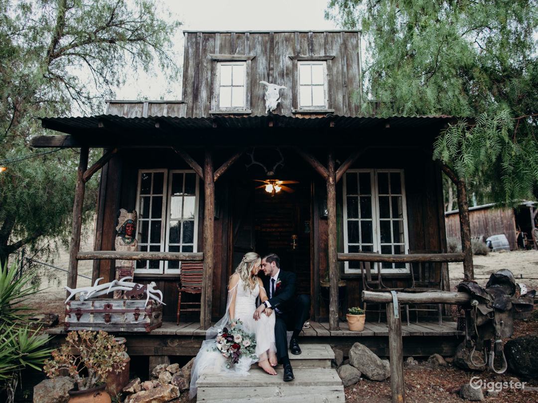 Our saloon located at the front of the ranch is the perfect photo opportunity for your event.
