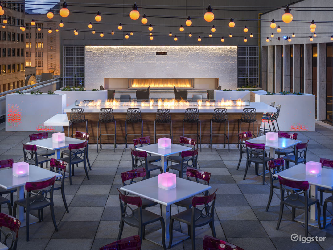 Frolik Kitchen + Cocktails - Rooftop Patio (center deck + fire table)