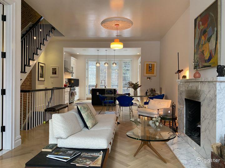 Elegant Mid-Century Modern Brownstone