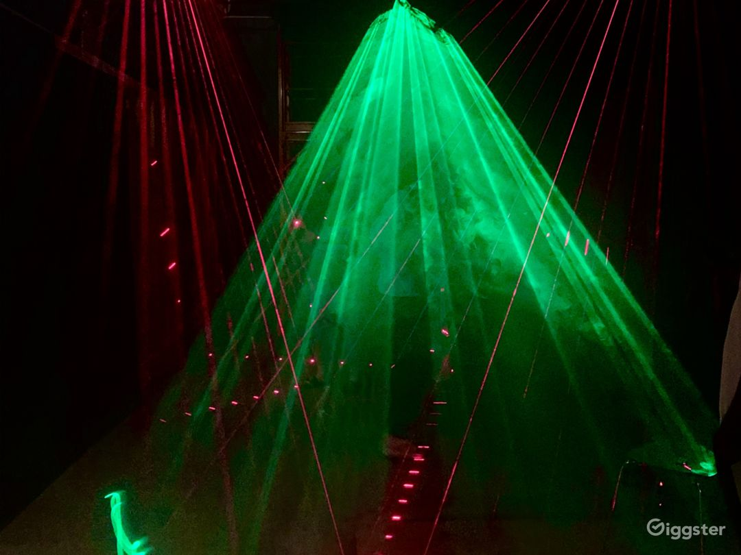 Our Main Stage With Lasers and our Storm Effect Laser