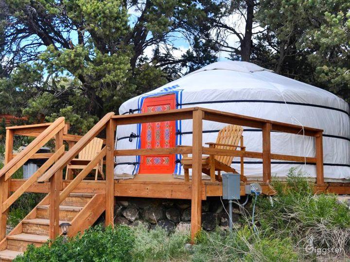 Unique Yurts with Colorful Design Photo 4