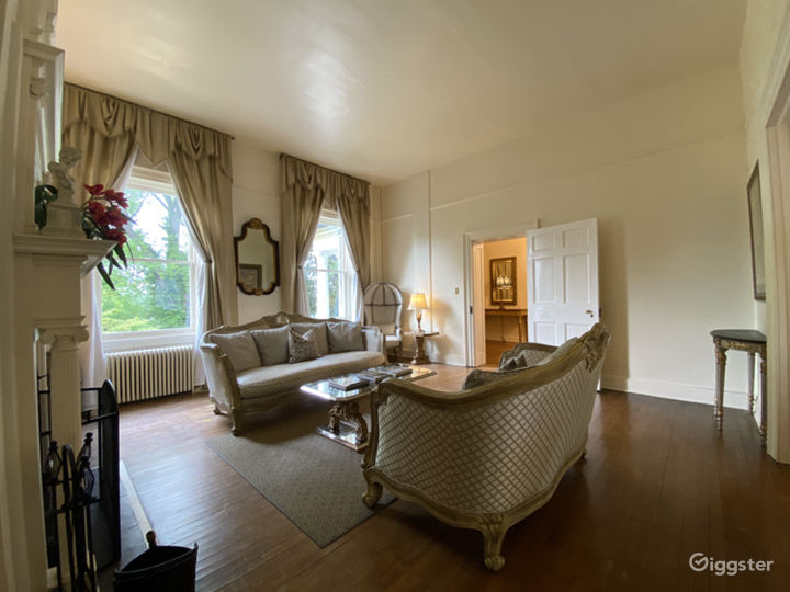 Parlor - View from powder room.