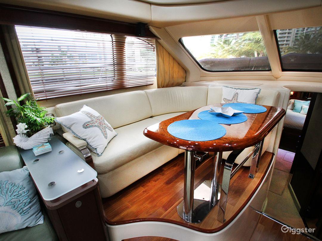 Premium 55FT FLYBRIDGE Party Yacht Space Events Photo 1