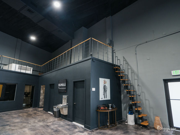 Mezzanine, two bathrooms and small kitchen.