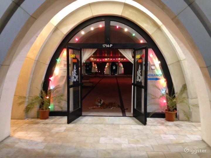 Exterior doors to Yoga Practice Room
