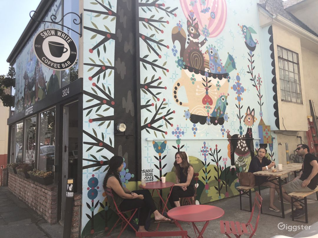 Oakland coffee shop + mural Photo 1