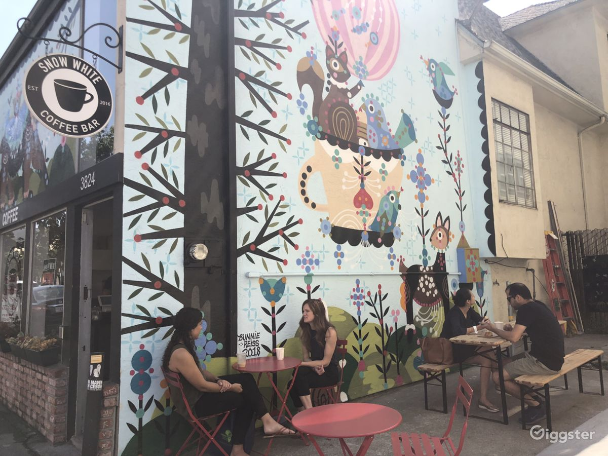 Oakland coffee shop + mural   Rent this location on Giggster