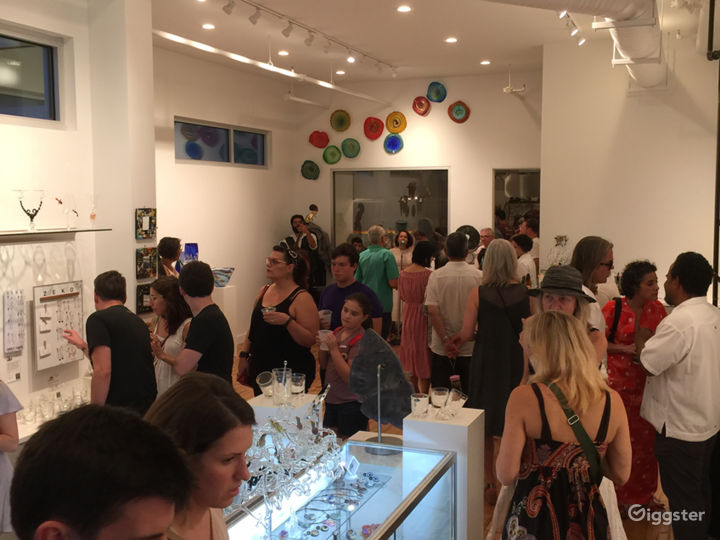 The gallery during our grand opening, 2018 (photo take from front window).