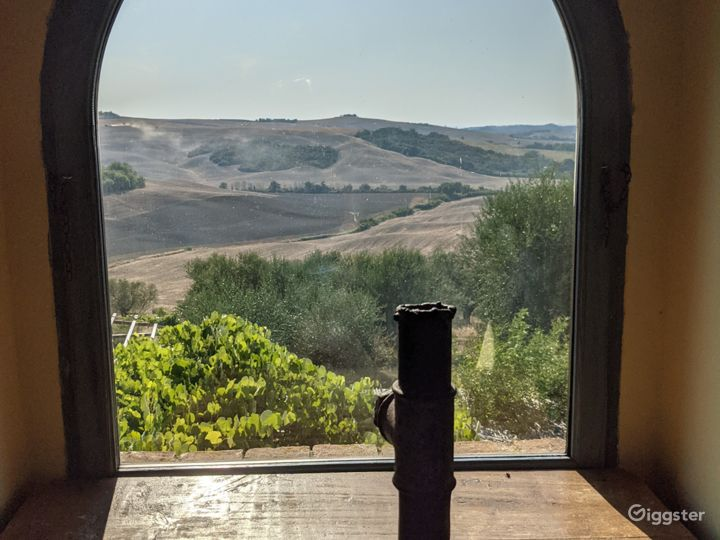 Tuscan Views from most windows @  Italy Film Photo Location