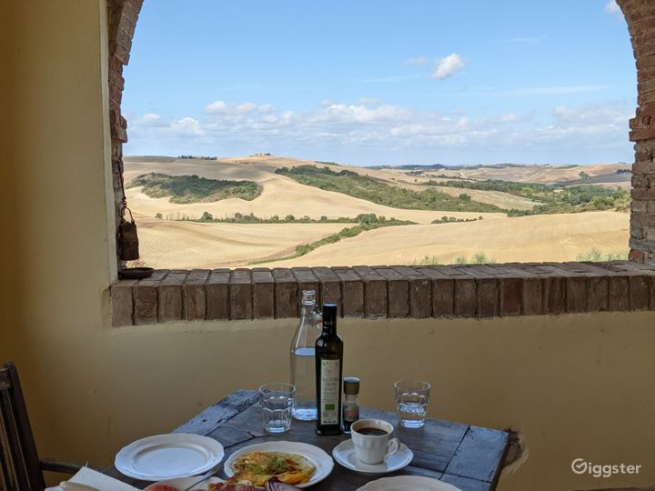 On site catering available@ Tuscany Italy Film Photo Location