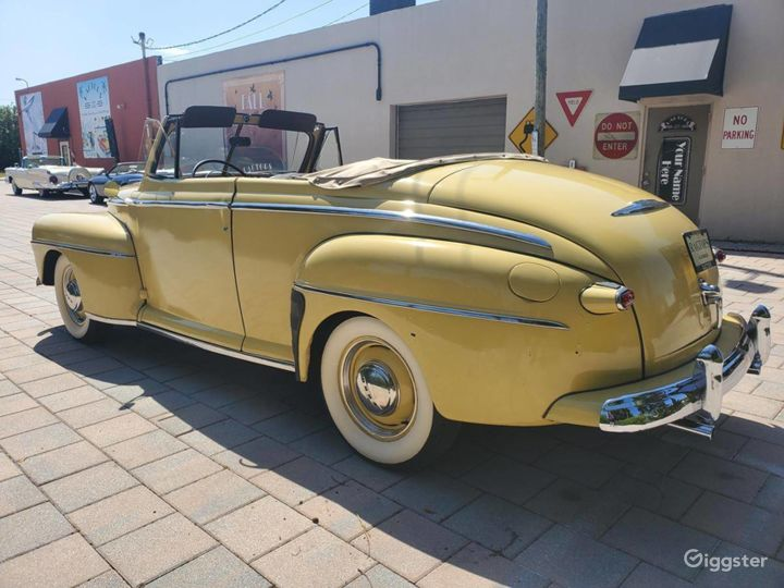 A Beautiful Yellow 1948 Ford Deluxe Convertible Photo 5