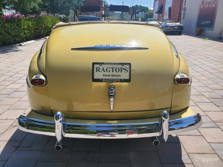 A Beautiful Yellow 1948 Ford Deluxe Convertible Photo 4