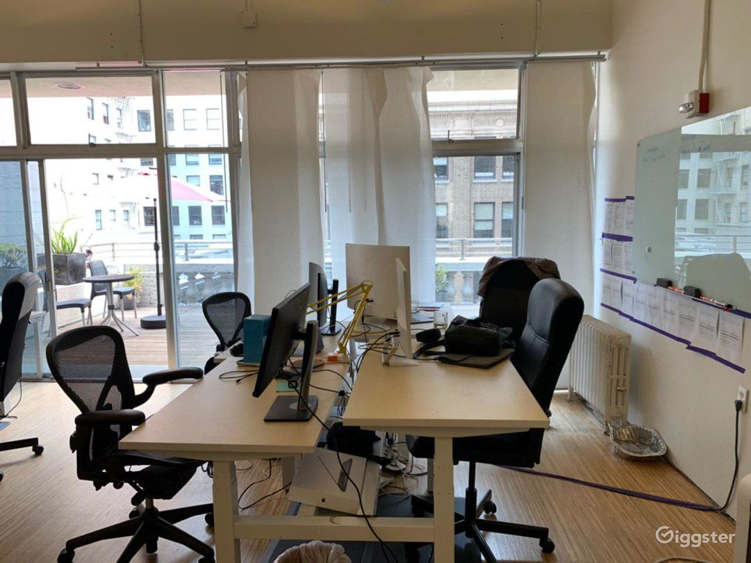 Furnished office space with two open decks Photo 4