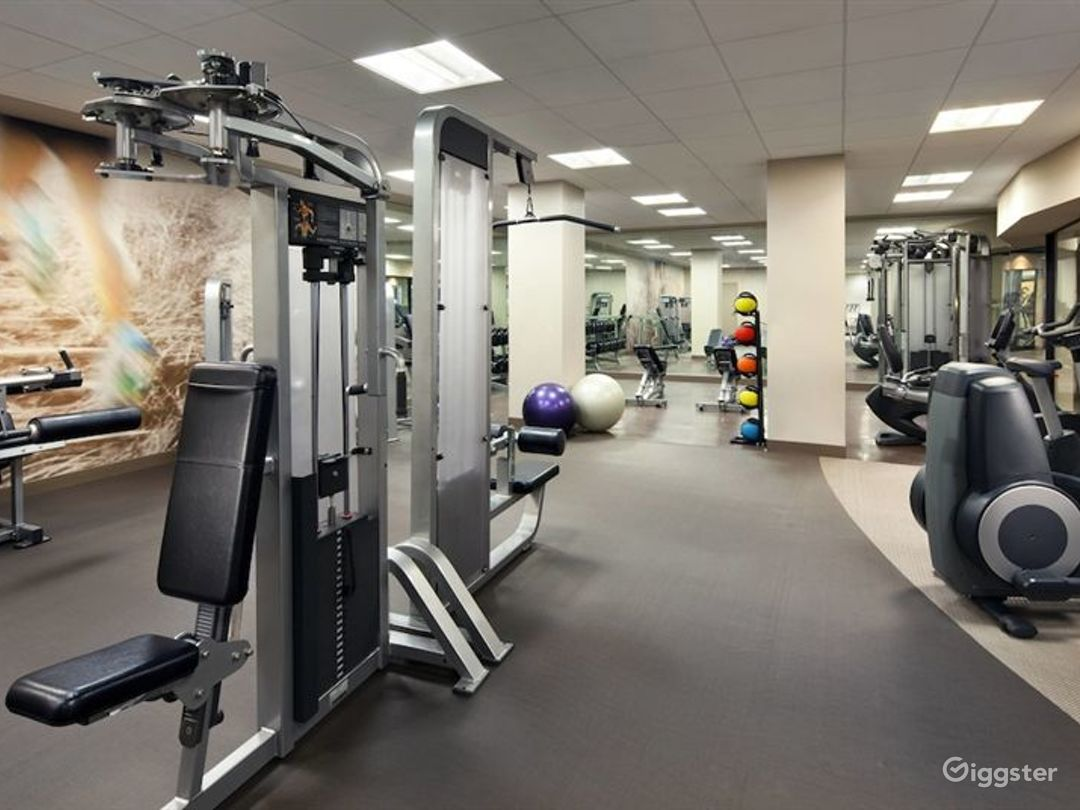 Large hotel gym with state of the art equipment Photo 1