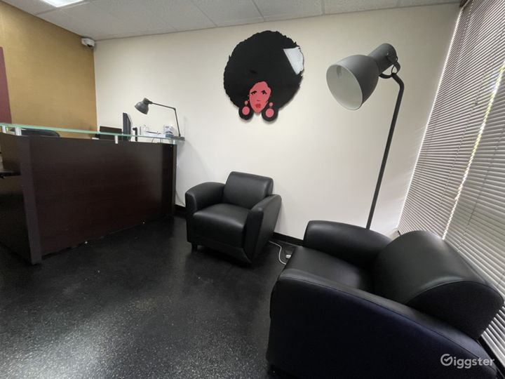 Front desk area can also be used for photo shoots.