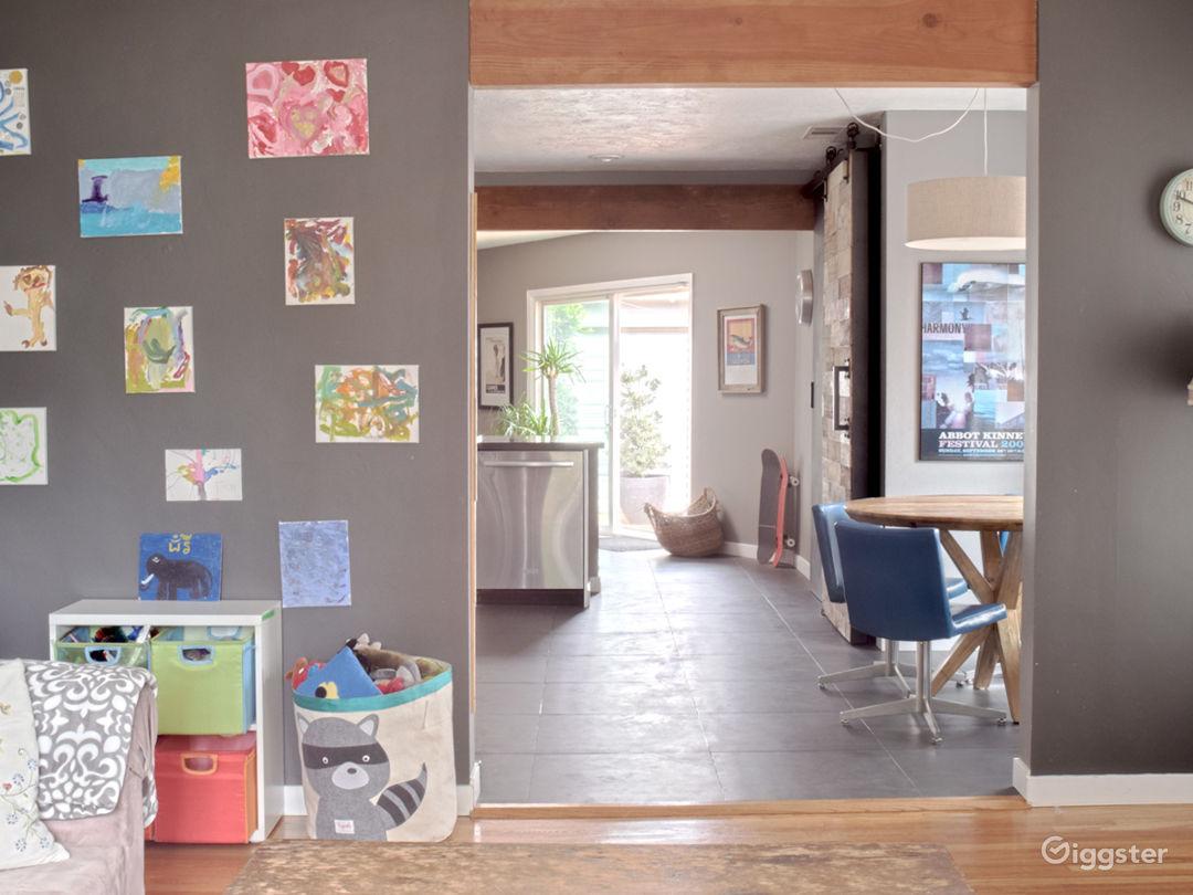 TV room looking towards kitchen