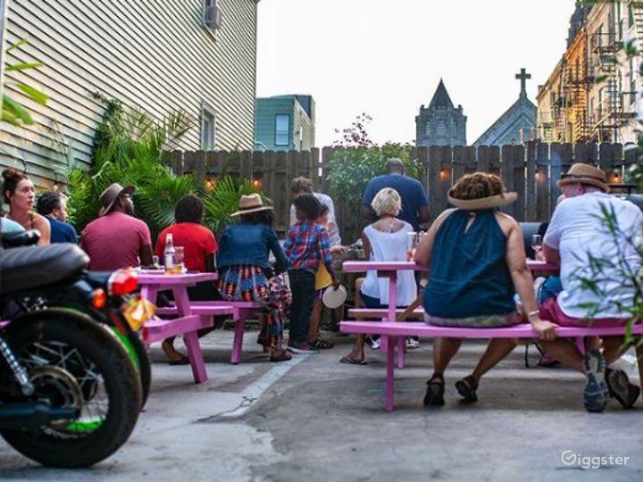 Spacious Backyard Patio in Jersey City