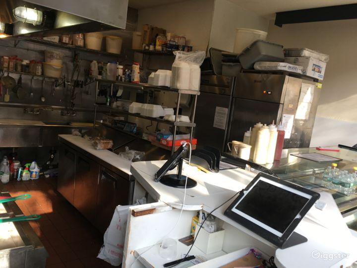 Fast food kitchen - prep area