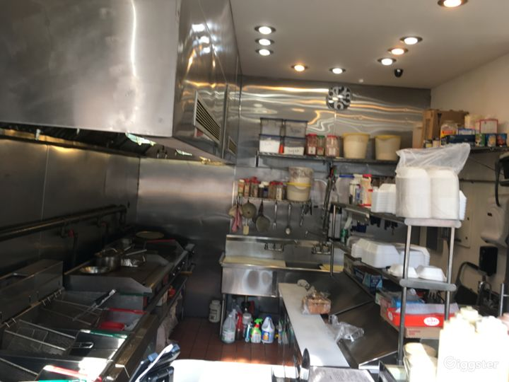 Fast food kitchen- prep area