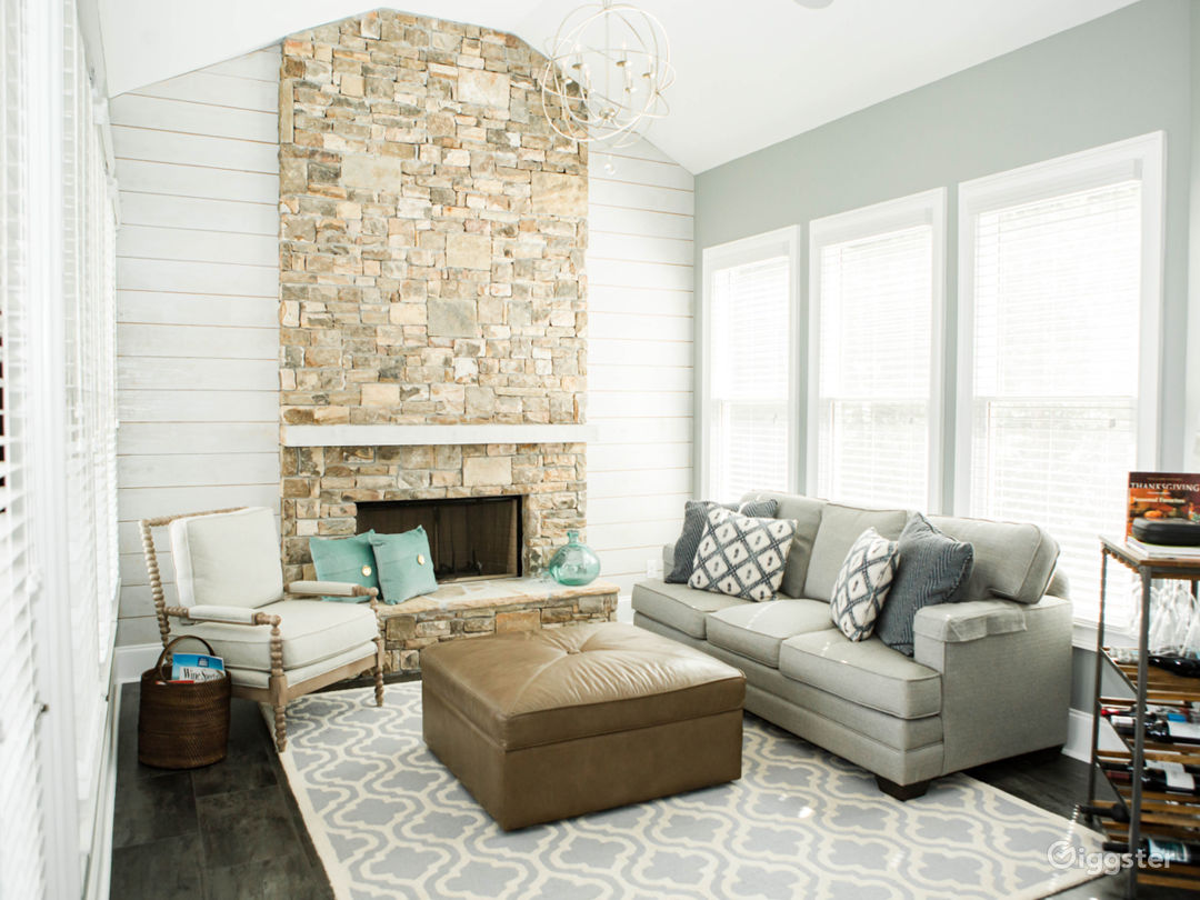 Keeping Room w/stone fireplace