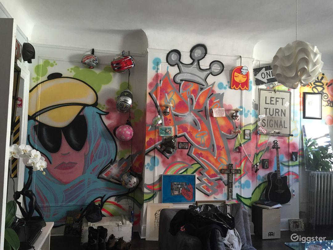 graffiti wall in LR