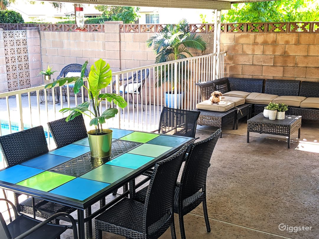 Back yard patio - exterior