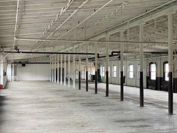 10,000 sq ft loft with peaked ceilings