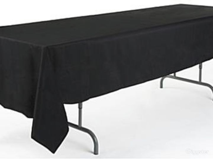 Covered tables for catering