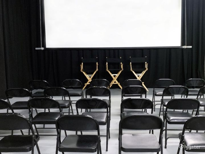 Q&A with directors chairs and wireless mic