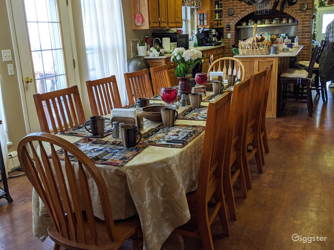 Farm House Dining Room  and open kitchen