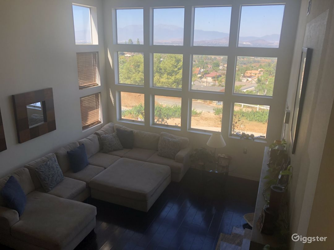 Living room room showcasing windows.
