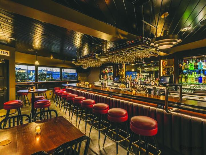Mid-Century Cocktail Bar w/Kitchen & Stage