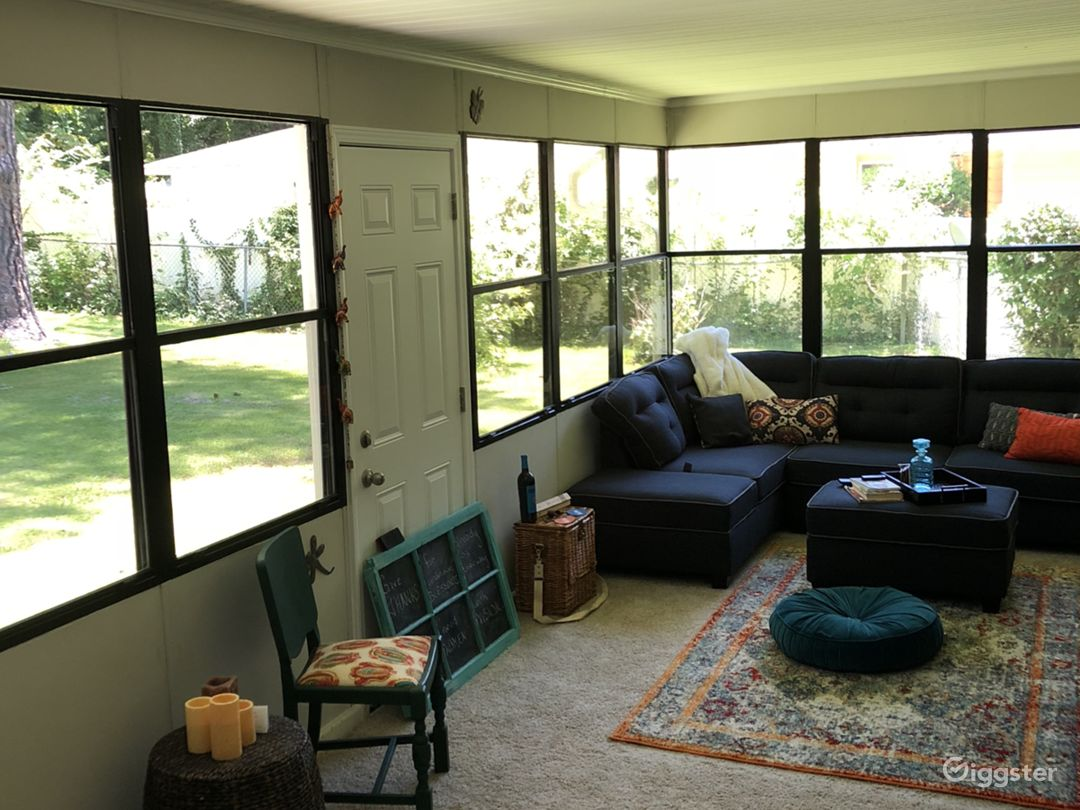 The sunroom is our favorite room and one of the highlights of Shirley.